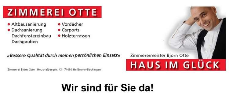 Zimmerei Otte GmbH, Ihr Dachdecker  Neuenstadt am Kocher